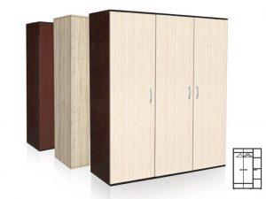 Трикрилен гардероб Тира