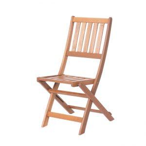 Градински сгъваем дървен стол KAI
