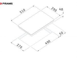 Плот с 2 котлона Pyramis 29HL 246 сензорен