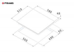Плот с котлони 3+1 Pyramis 58HL 4004 сензорен